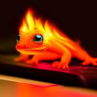 Keyboard Gecko