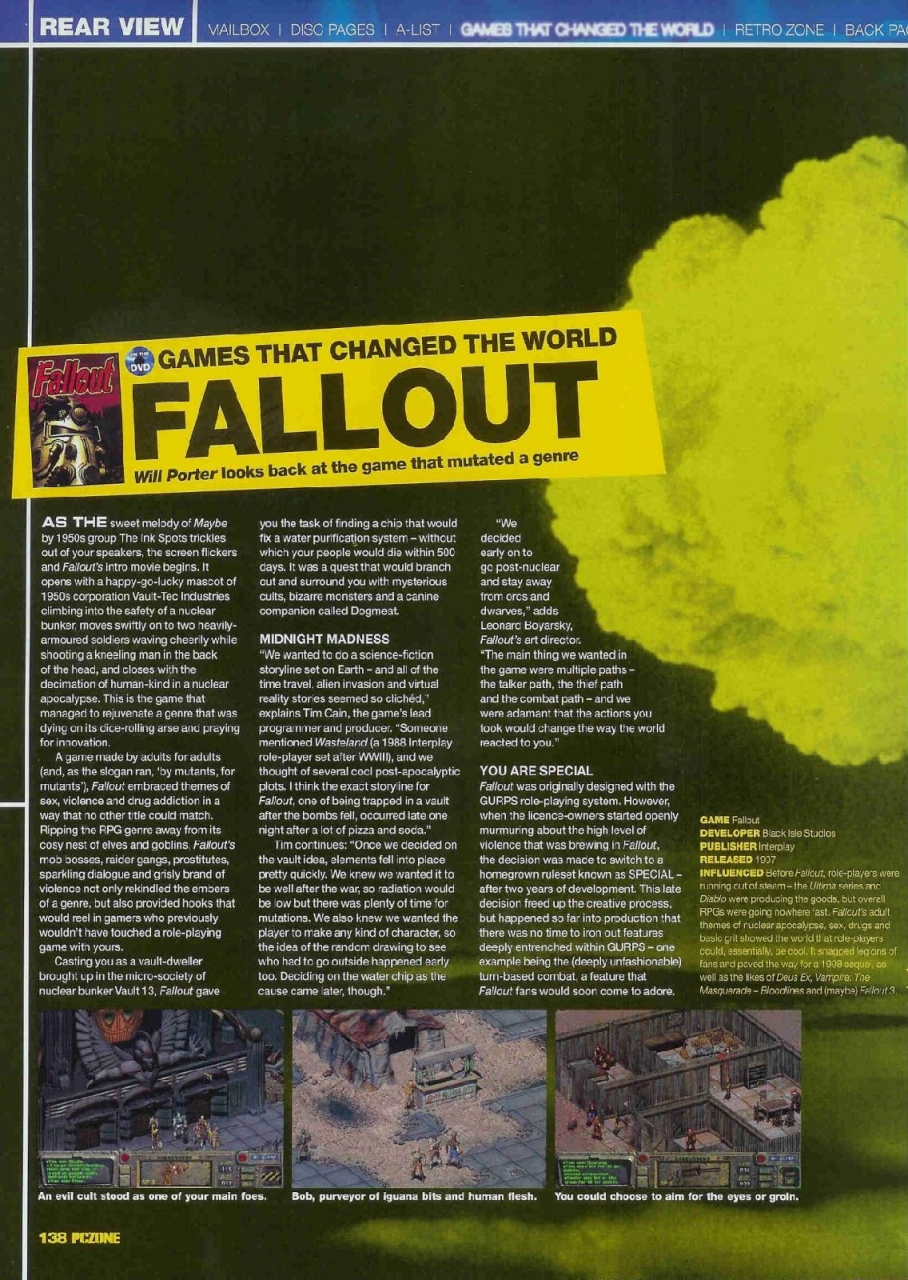 PCZone Fallout feature page 1