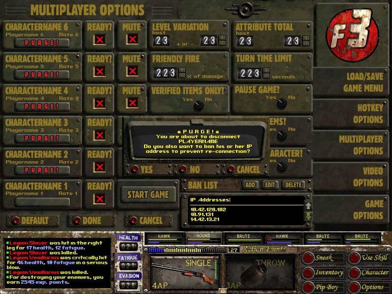 Fallout 3 Multiplayer Menu