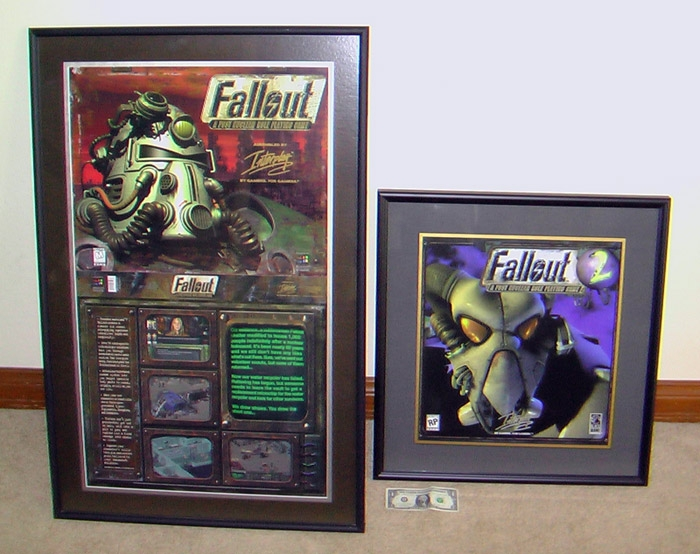Fallout 1 and 2 art framed