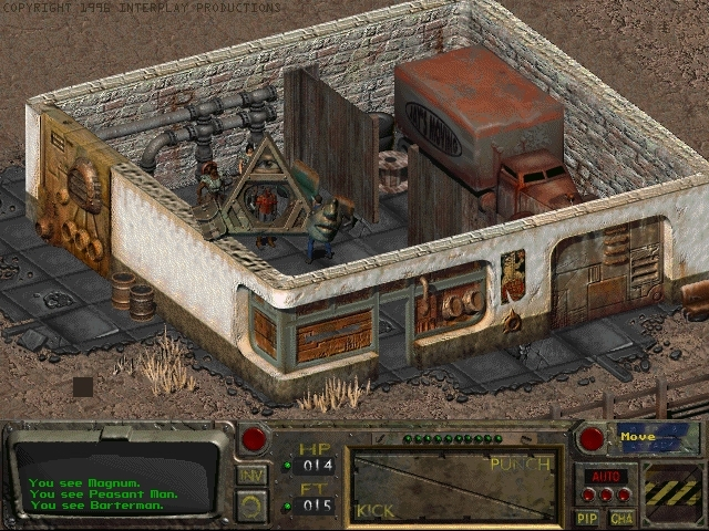 Fallout Interface - screen from the Beta Version