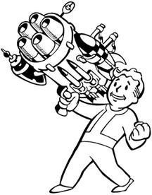 Vault Boy with a Big Gun