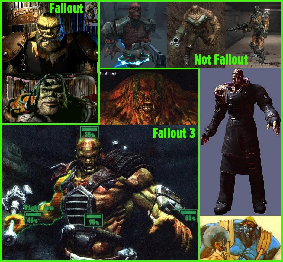 Super Mutant Comparison