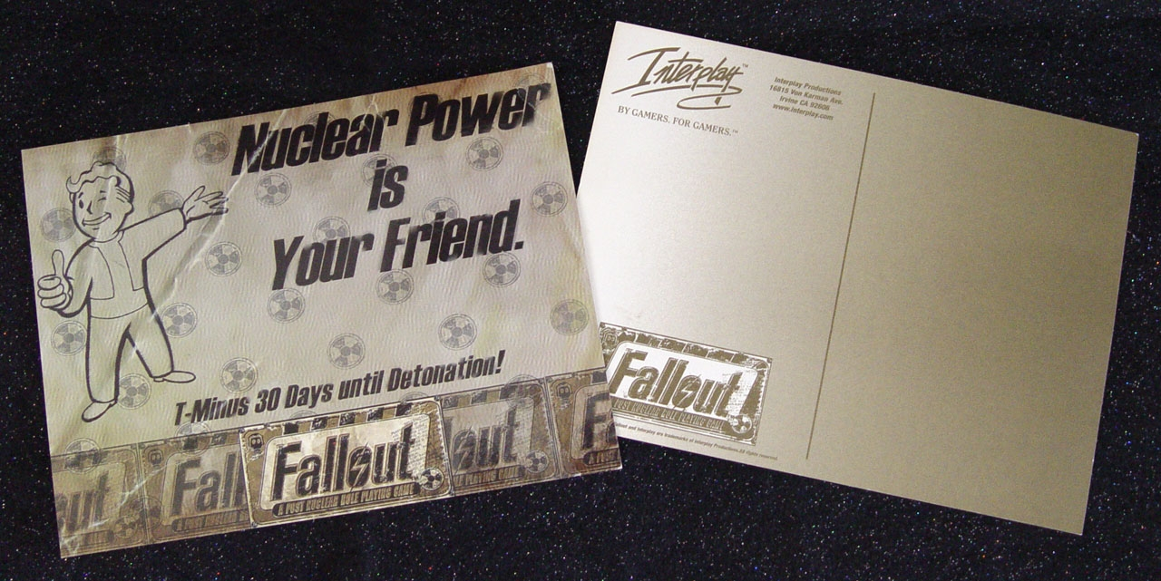 Fallout 1 promotional flyer