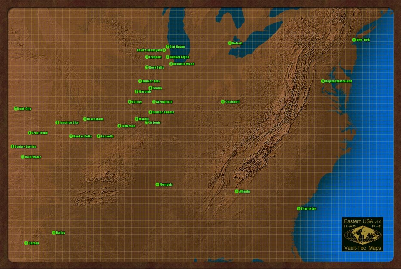 Full USA map (East)