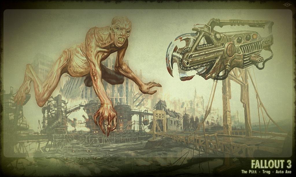 The Pitt/Trog/Auto Axe concept art
