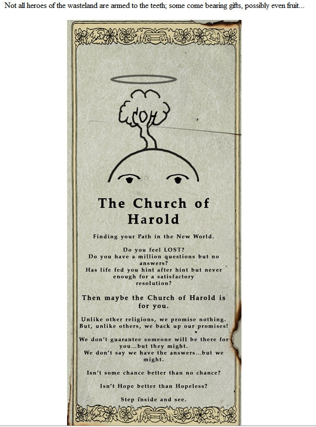 Harold's Church Pamphlet 1 (Fallout Online)