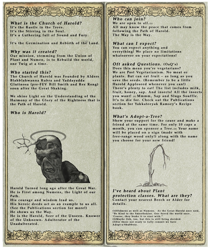 Harold's Church Pamphlet 2 (Fallout Online)