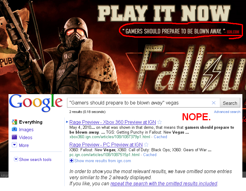Fallout: New Vegas and Rage are basically the same thing anyway