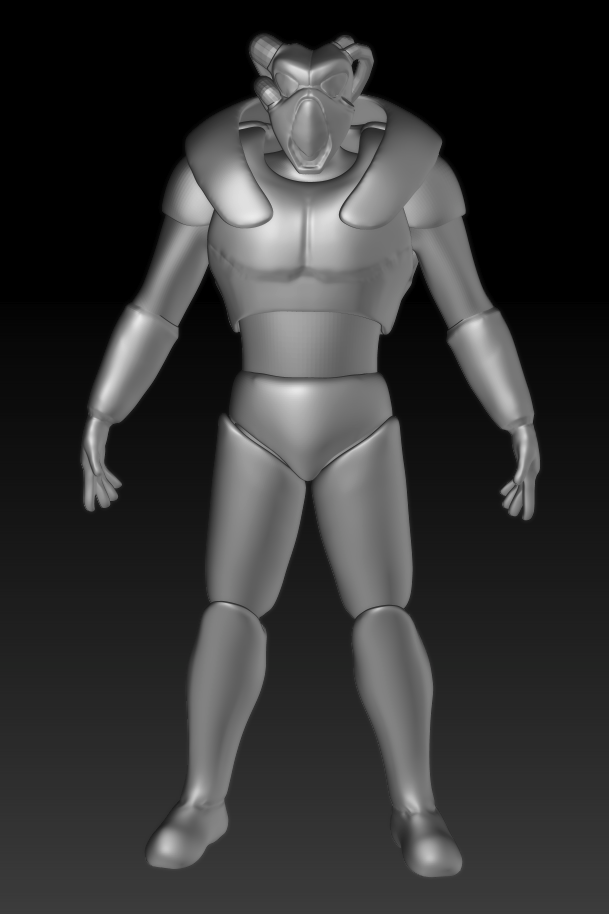 Original style Advanced Power Armor, 3D [WIP] (Fallout 2)