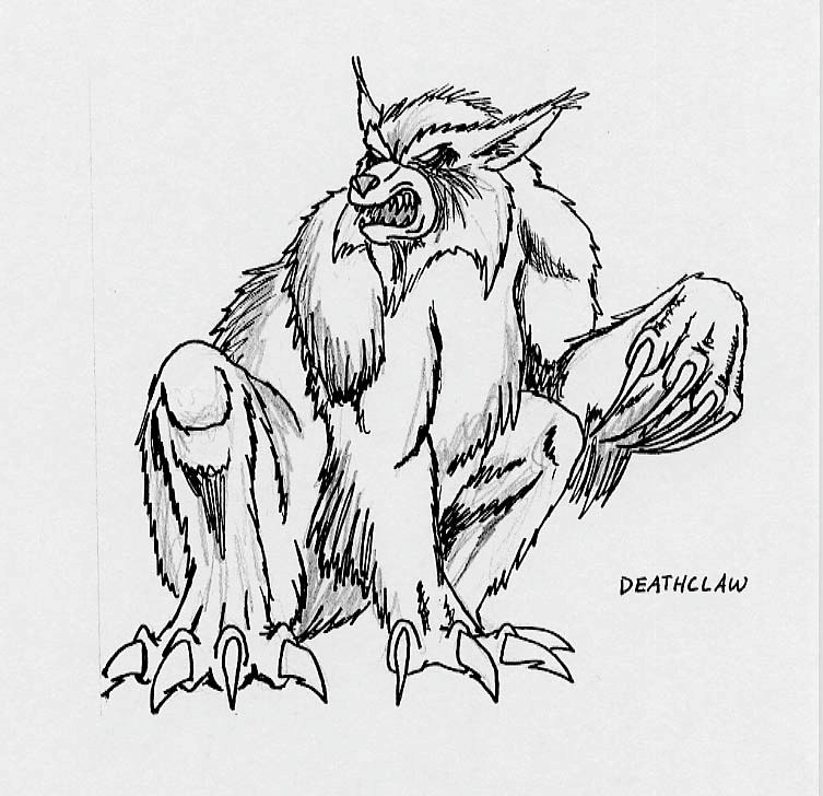 Early deathclaw design