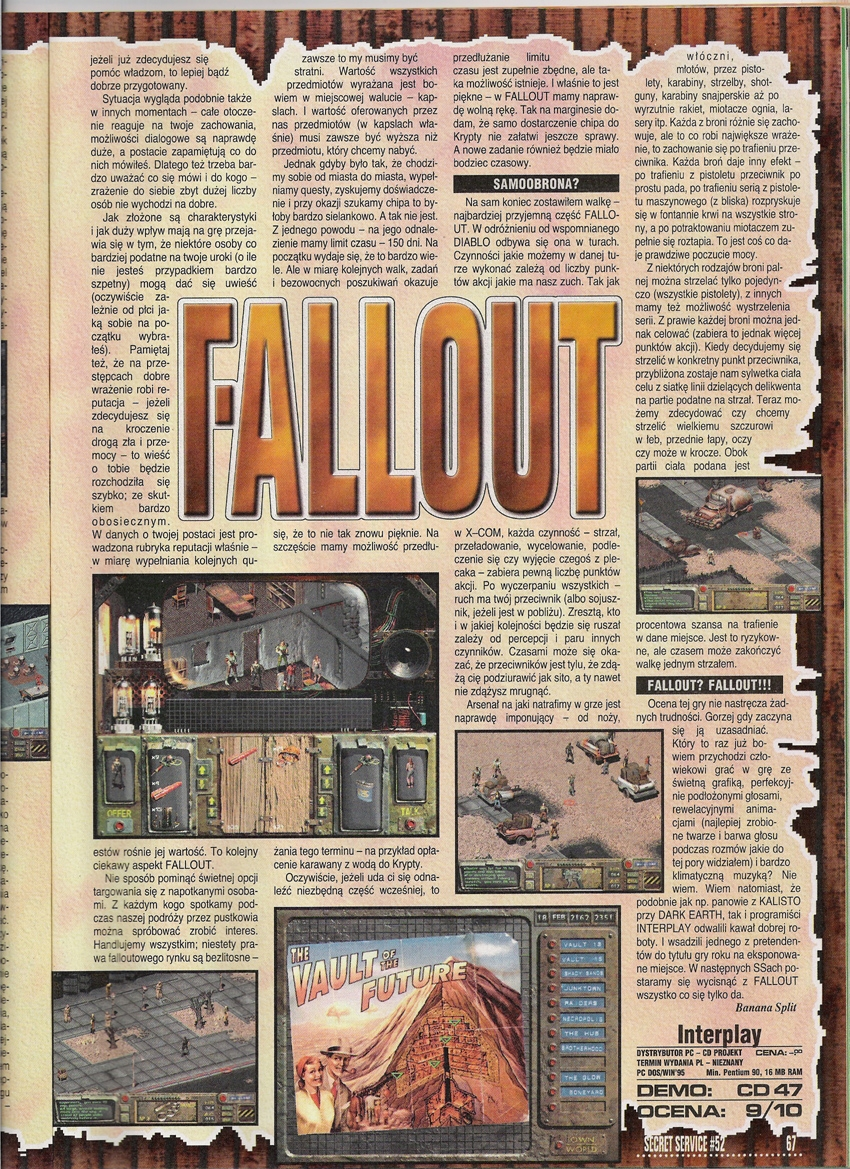 Secret Service Fallout review PL (1997)