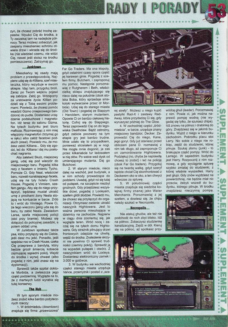 Swiat Gier Komputerowych Fallout walkthrough PL (1997)
