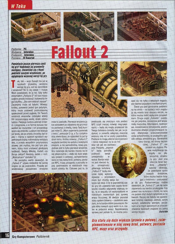 Gry Komputerowe Fallout 2 preview PL (1998)