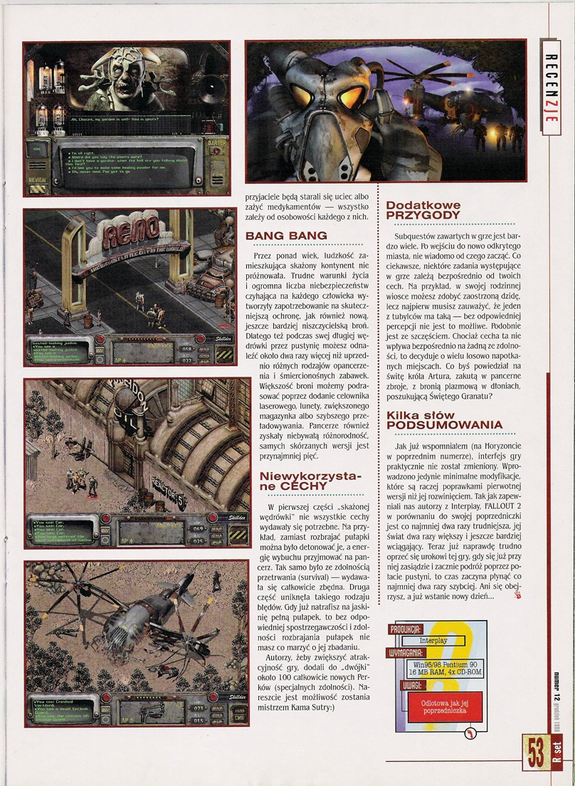 Reset Fallout 2 preview PL (1998)