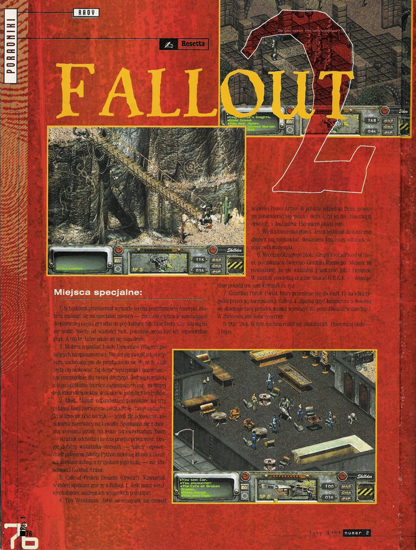 Reset Fallout 2 guide PL (1999)