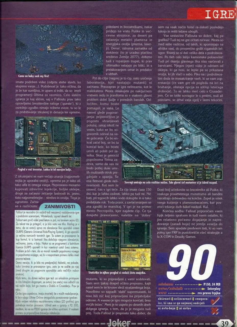 Joker Fallout review (1998)