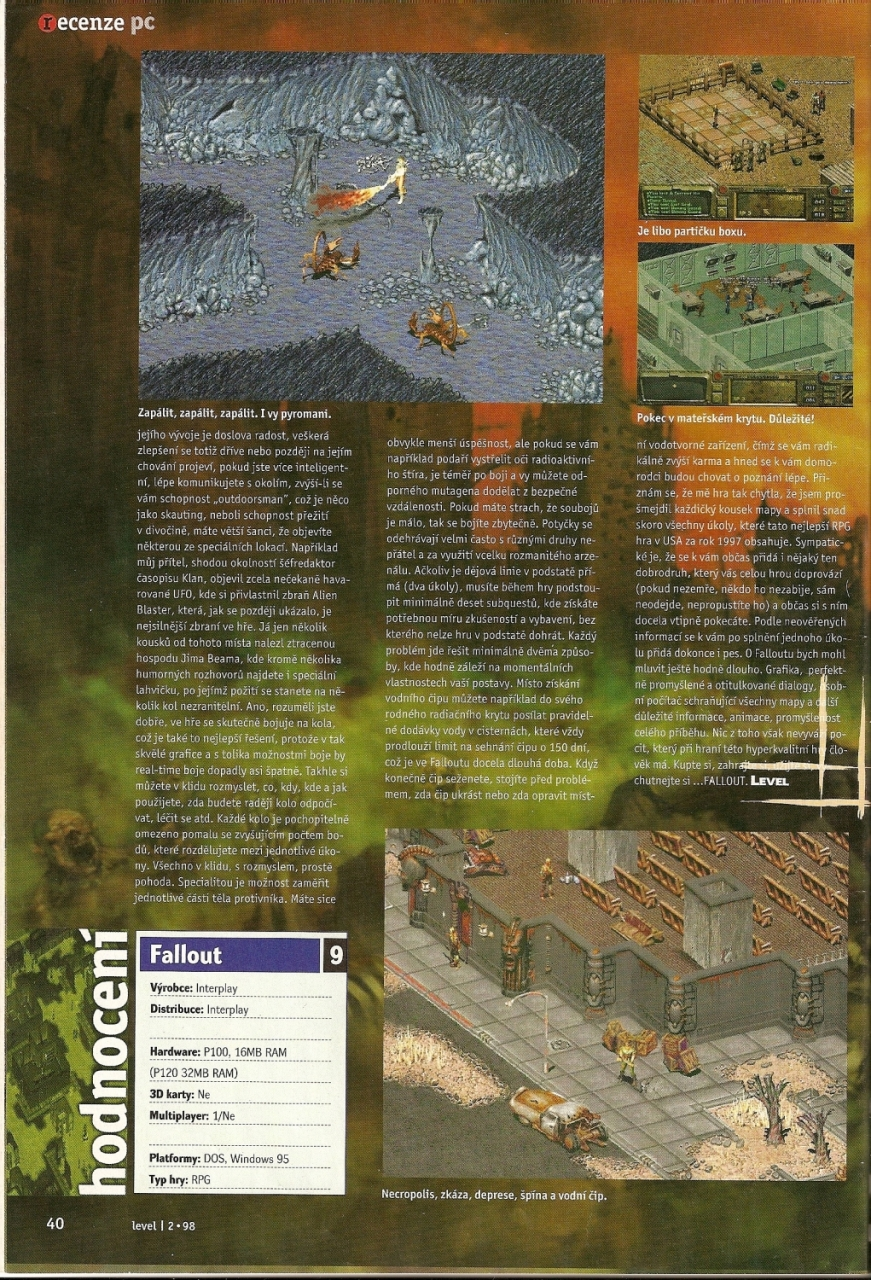 Level Fallout review (1998) CZ