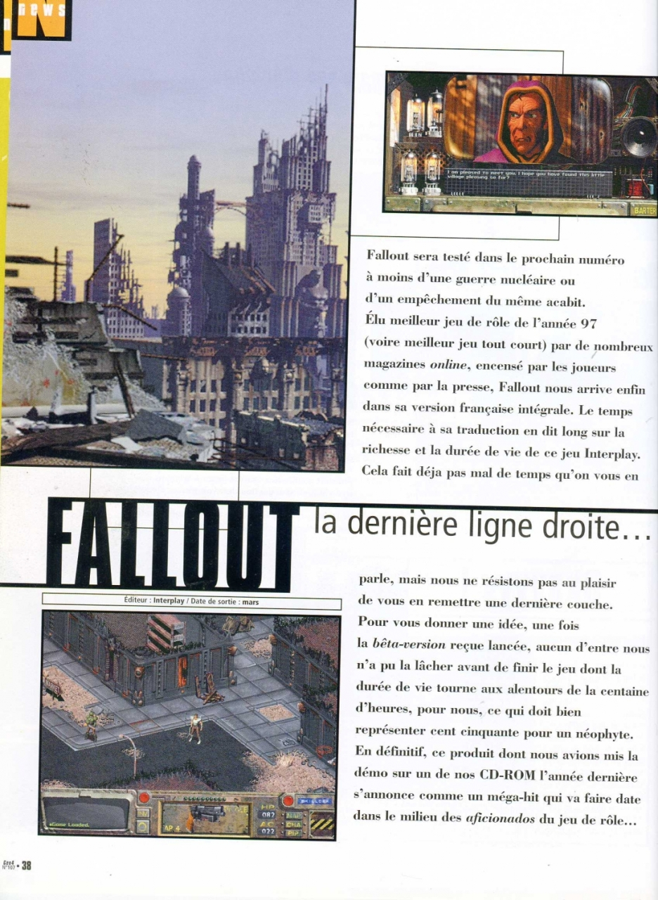 Gen 4 Fallout preview (1997) FR