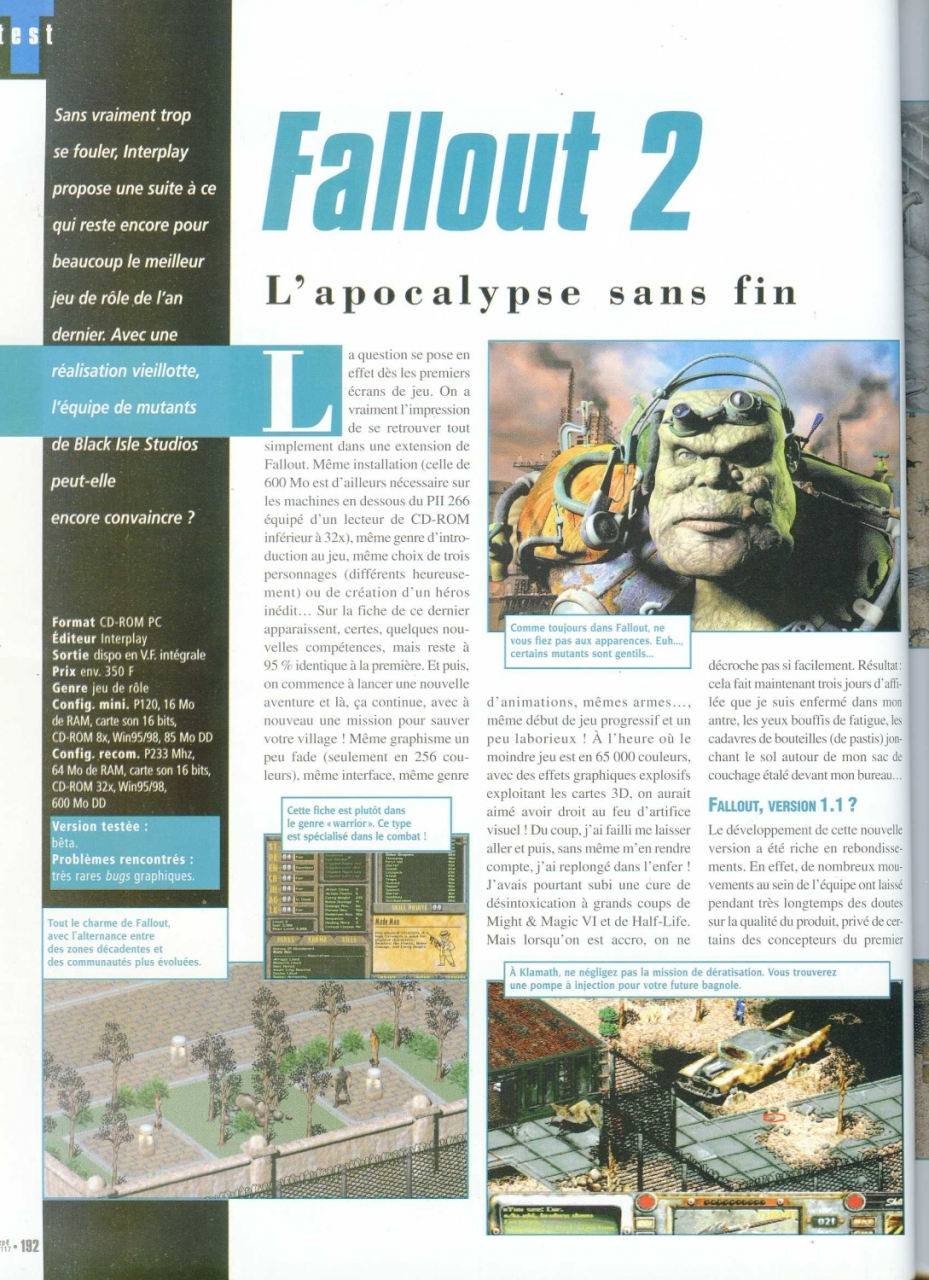 Gen4 Fallout 2 review (1999) FR