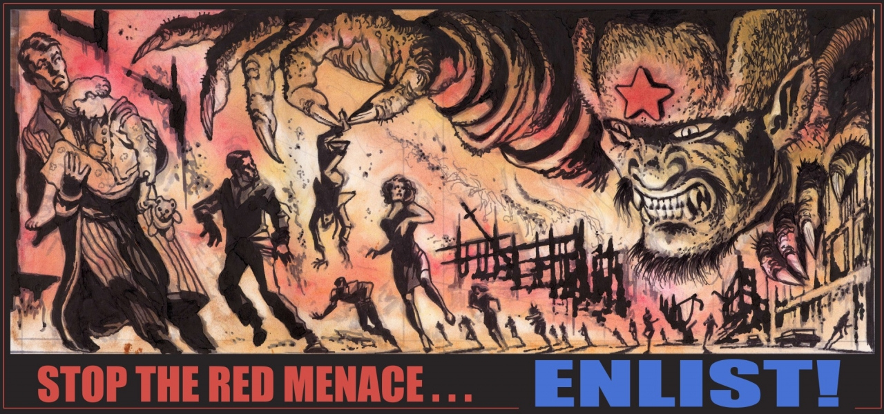 Stop the red menace... ENLIST!