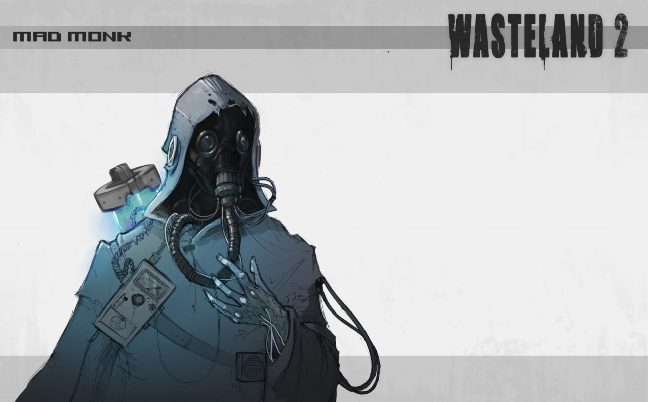 Wasteland 2 concept sketch - Mad Monk